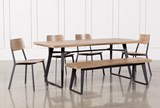 Cintra 6 Piece Dining Set With Frame Side Chairs - Signature