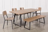 Cintra 6 Piece Dining Set With Frame Side Chairs - Top