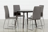 Swift 5 Piece Round Dining Set With Oliver Side Chairs - Signature