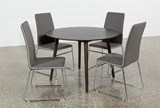 Swift 5 Piece Round Dining Set With Oliver Side Chairs - Top