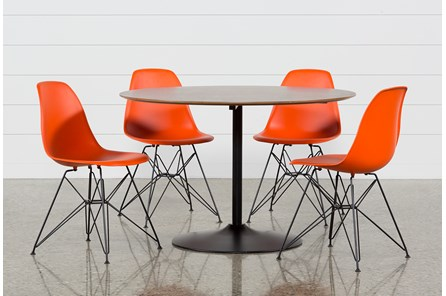 Vespa 5 Piece Round Dining Set With Alexa Firecracker Side Chairs - Main