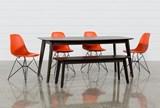 Swift 6 Piece Rectangular Dining Set With Alexa Firecracker Side Chairs - Signature