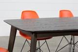 Swift 6 Piece Rectangular Dining Set With Alexa Firecracker Side Chairs - Material