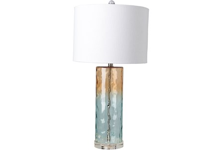Table Lamp-Orange Blue Ombre