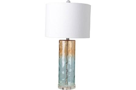 Table Lamp-Orange Blue Ombre