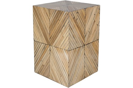 Hand Crafted Square Bamboo Stool - Main