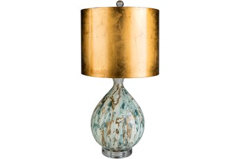 Table Lamp-Coppered Marble