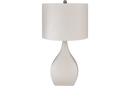 Table Lamp-Glazed Beige