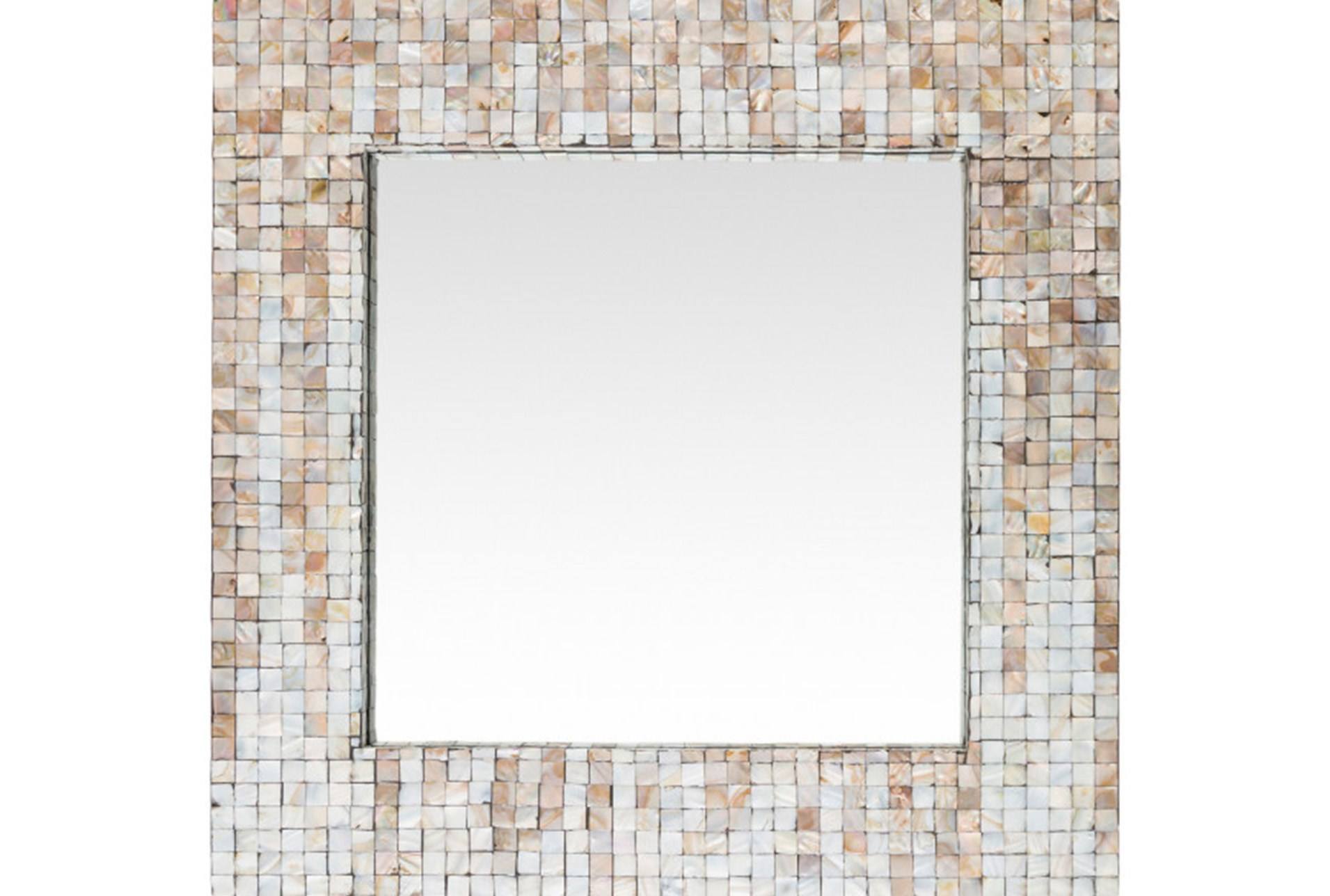 Mirror-Square Pearl Inlay 24X24 | Living Spaces
