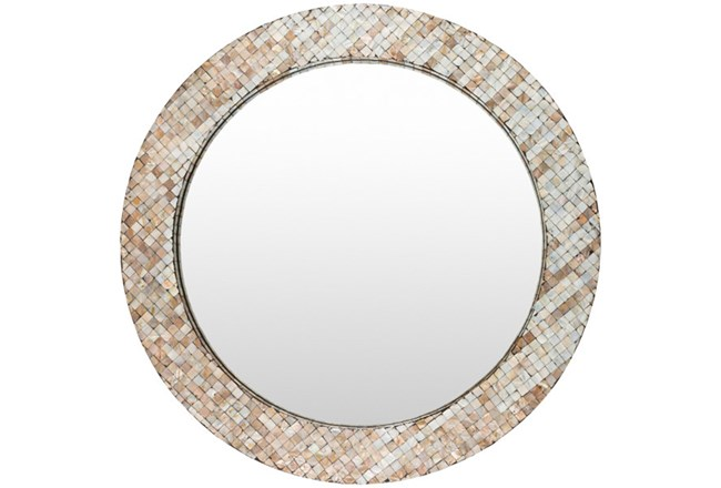 Mirror-Round Pearl Inlay 31X31 - 360