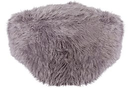 Pouf-Youth Faux Fur Light Grey