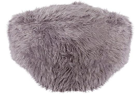 Pouf-Youth Faux Fur Light Grey