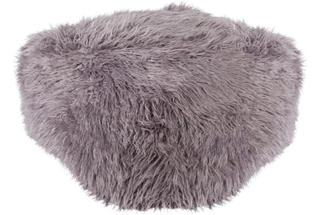 Pouf-Youth Faux Fur Light Grey - 360