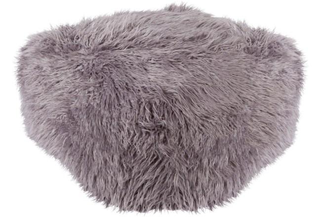 Pouf-Youth Faux Fur Light Grey - 360