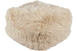 Pouf-Youth Faux Fur Beige