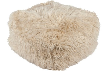 Pouf-Youth Faux Fur Beige - Main