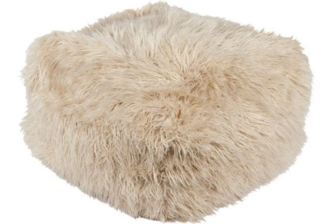 Pouf-Youth Faux Fur Beige - 360