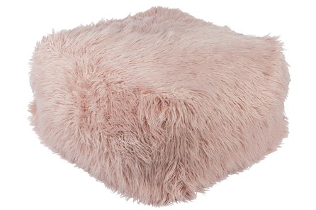 Pouf-Youth Faux Fur Light Pink