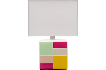 Table Lamp-Youth Geo Pattern Pink - Main