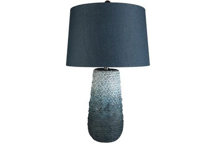 Table Lamp-Ombre Burlap