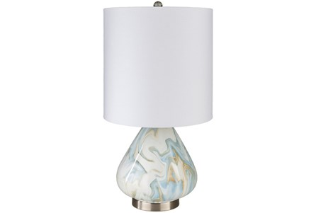Table Lamp-Marbled Ceramic