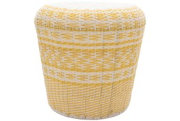 Butter Yellow Woven Stool