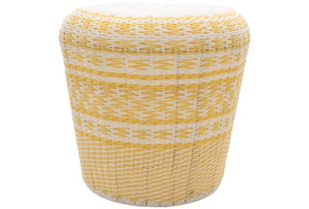 Butter Yellow Woven Stool