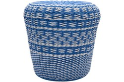 Blue Woven Stool