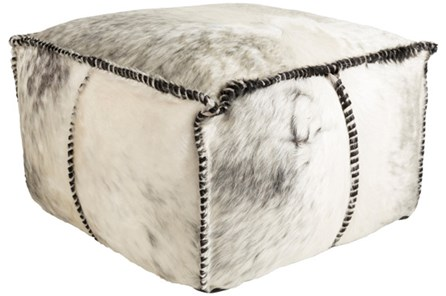 Pouf-Grey Animal Print - Main