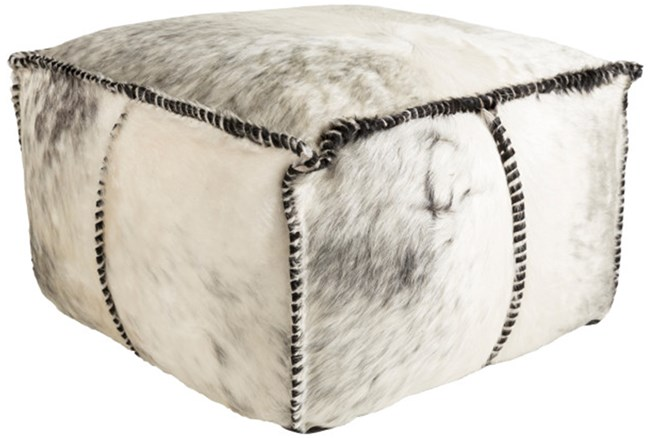 Pouf-Grey Animal Print - 360