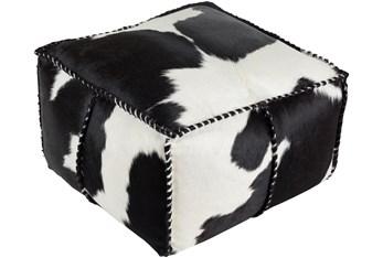 Pouf-Black Animal Print