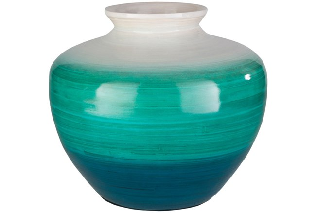 10 Inch Blue Ombre Vase - 360