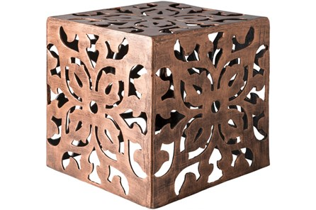 Copper Perforated Metal Stool - Main