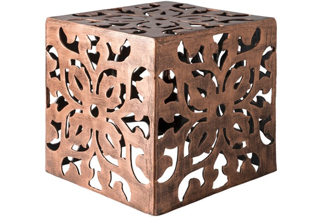 Copper Perforated Metal Stool - 360