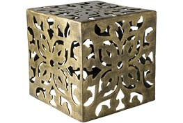 Brass Perforated Metal Stool