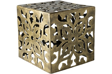 Brass Perforated Metal Stool - Main