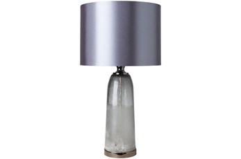 Table Lamp-Grey Glass