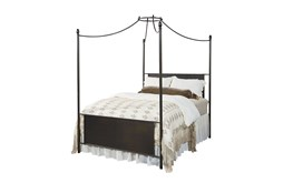 Magnolia Home Manor Iron Eastern King Straight Back Canopy Bed By Joanna Gaines