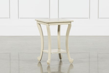 Claire Ivory Chairside Table