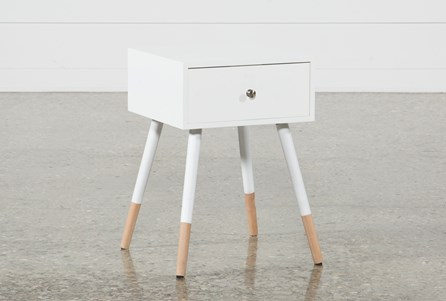 Eppa White Accent Table