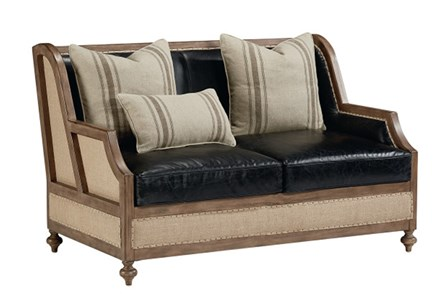 Magnolia Home Foundation Leather Loveseat