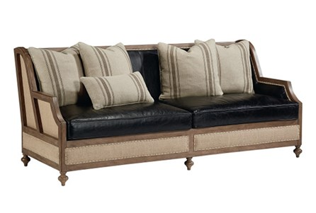Magnolia Home Foundation Leather Sofa