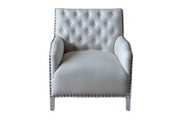 White Wash Diamond Accent Chair