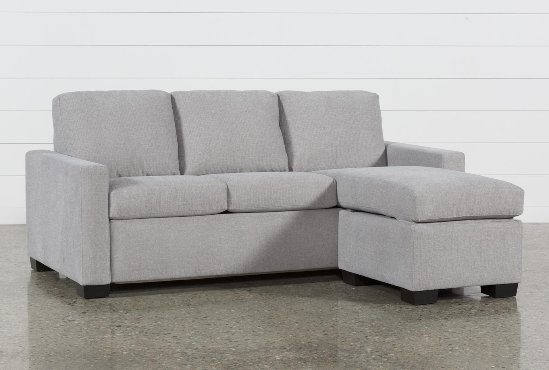 mackenzie silverpine queen plus sofa sleeper w storage chaise rh livingspaces com Living Spaces Outlet Store living spaces sofa bed sectional