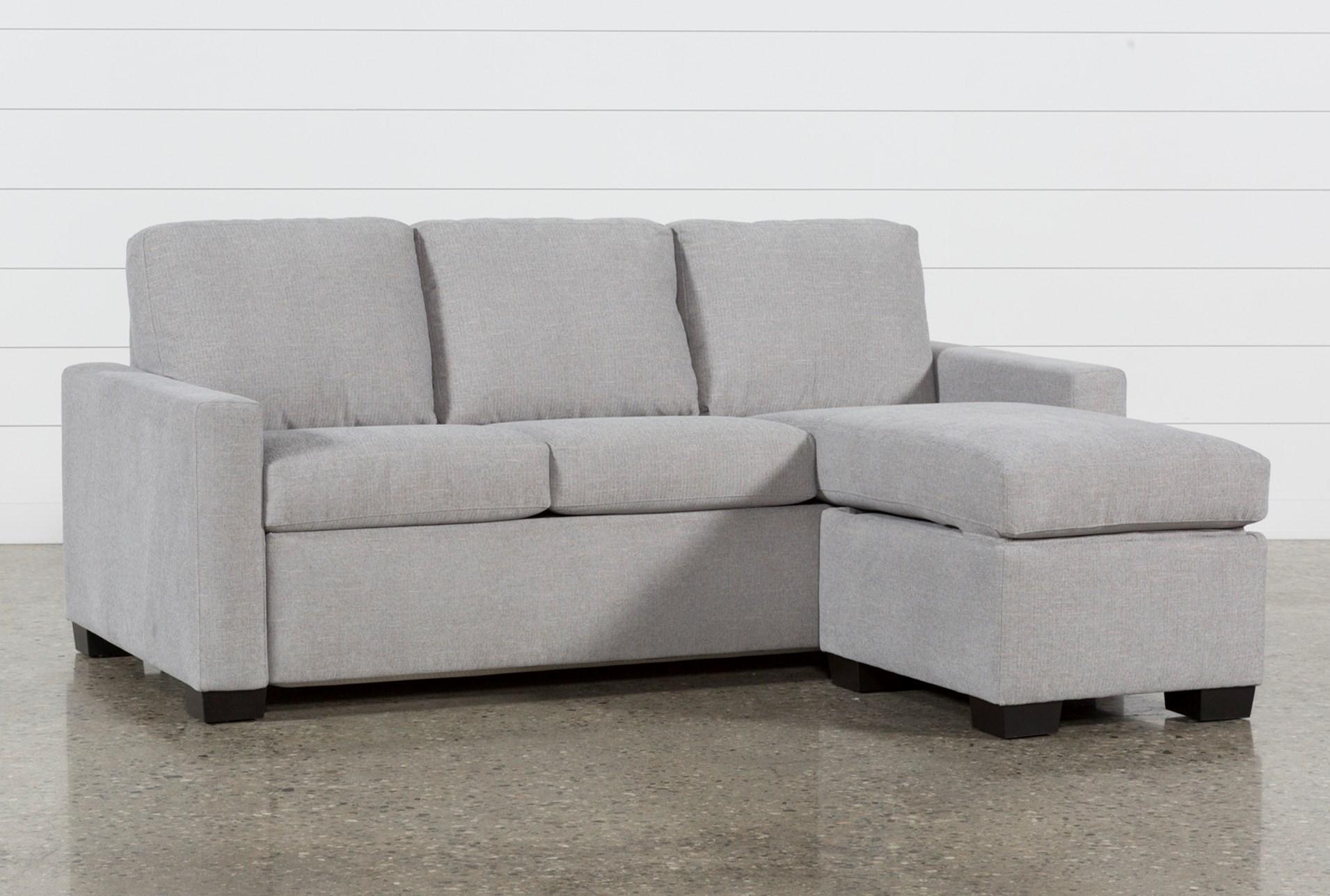 Mackenzie Silverpine Queen Plus Sofa Sleeper W Storage Chaise
