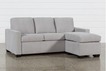 "Mackenzie Silverpine 84"" Queen Plus Sofa Sleeper With Reversible Storage Chaise"