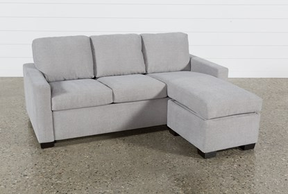 Incredible Mackenzie Silverpine Queen Plus Sofa Sleeper W Storage Chaise Dailytribune Chair Design For Home Dailytribuneorg