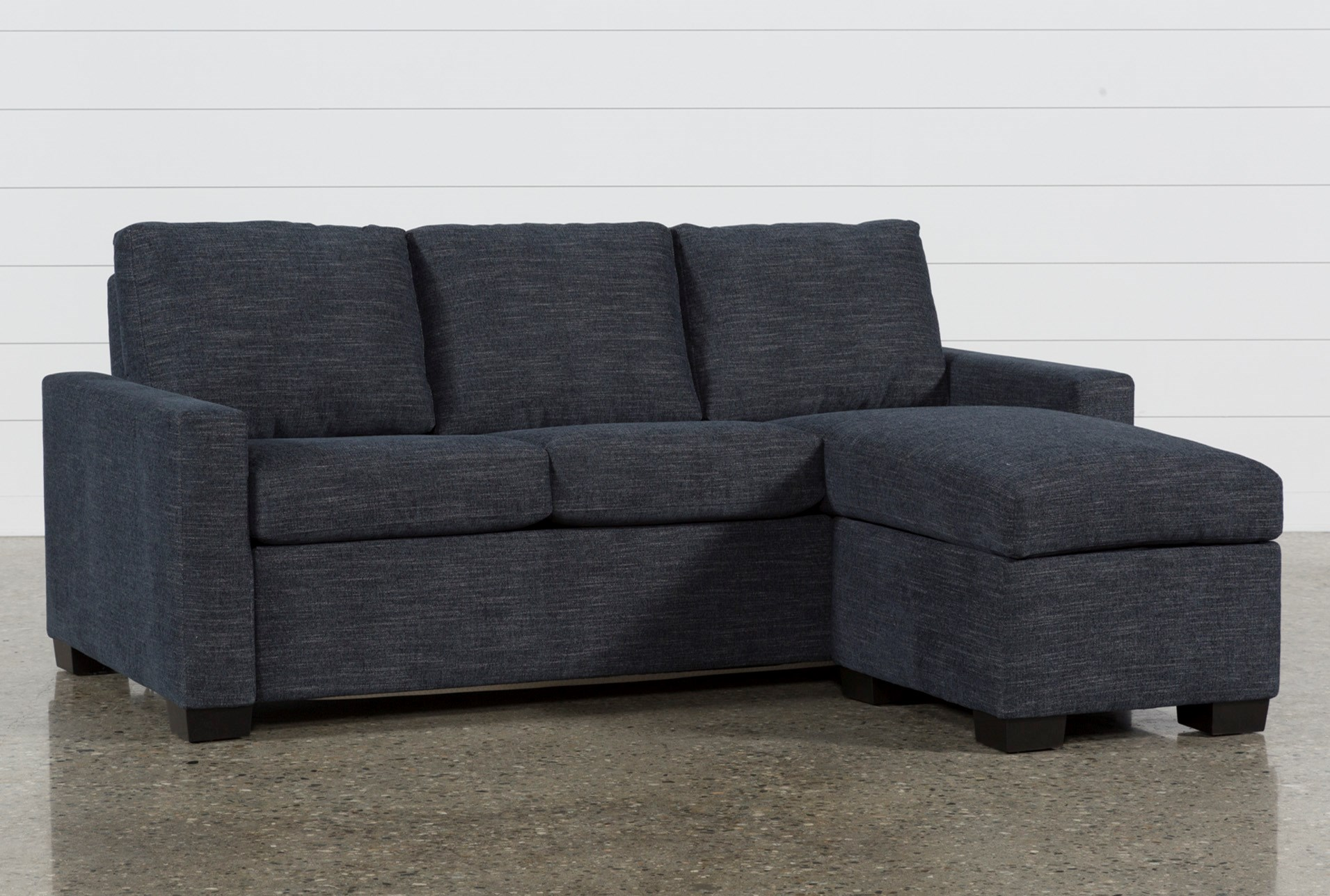 Mackenzie Denim Queen Plus Sofa Sleeper W/ Storage Chaise ...