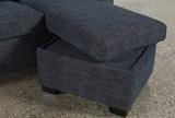 Mackenzie Denim Queen Plus Sofa Sleeper W/ Storage Chaise - Storage