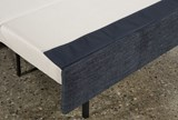 Mackenzie Denim Queen Plus Sofa Sleeper W/ Storage Chaise - Material